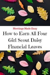 So verdienen Sie alle vier Girl Scout Daisy Financial Leaves