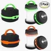 Camping Lantern 2 Pack Led Lantern Mini LED campinglampor ficklampor, Collapsib …