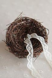 Porte alliance bois nid oiseau