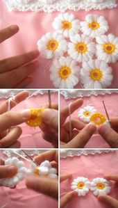 Lernen Sie, wie man eine schöne Blumendecke häkelt