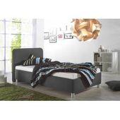 Upholstered bed Caserta, 160×210 cm, gray MaintalMaintal