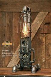 Steampunk Industrial / F4 Phantom / Luftfahrt / Flugzeug Instrumententafel / Lampe