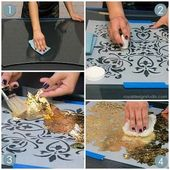 Stencil How-to: Reverse Stenciling and Gilding on Glass