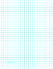 This Letter Sized Graph Paper Has Three Aqua Blue Lines Every Inch