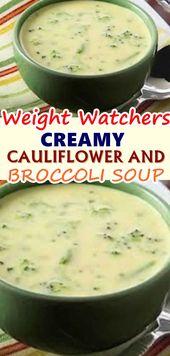 WEIGHT LOSS CREAMY CAULIFLOWER AND BROCCOLI SOUP