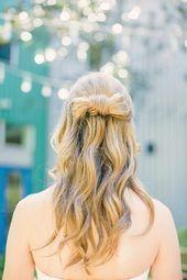 # Bride # chic # hairstyle half open # hair # half open #kn
