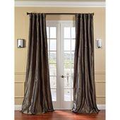 Half Price Drapes Fern Faux Silk Taffeta Single Panel Curtain, 50 X 96 Ptch Jtsp100 96