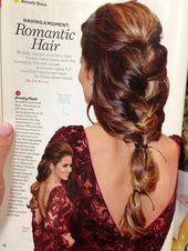 Romantisches Haar Frisuren Haar Pferdeschwanz Frisuren