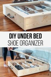 DIY Below Mattress Shoe Organizer