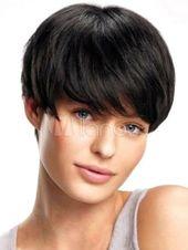 Wie Echthaar Mode Sexy Nat¨¹rliche Damen Kurz Glatt Volle wig Schwarz #Ad , #affiliate, #Sexy#Nat#rliche