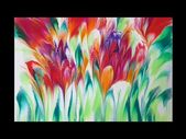 (76) Dip technique _ The flower garden _ No silicone _ Designer Gemma77 – YouTub… – Acrylic pouring