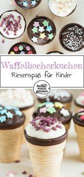 Cupcakes in der Waffel – Backen mit Kindern Rezepte