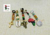 Africa Handmade Hair Jewelry Ankh Cowrie Africa Set of 5 Handmade Accessories