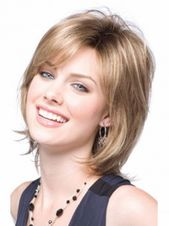 Fashionable Blonde Chin Size Artificial Wigs, Artificial Lace Entrance Wigs