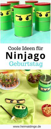Ninjago Kids Birthday: Coole Ideen für eine gelungene Party   – heimatdinge – Upcycling & DIY Kindergeburtstag