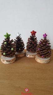 Pine cones as a Christmas tree Pine cones …