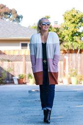 Madewell Colorblock Cardigan + Amazon Fashion Dupe Comparison