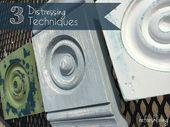 3 Distressing-Techniken (um eine zweite Farbschicht zu zeigen)