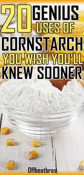 El almidón de maíz es increíble, ya que tiene muchos usos más allá de la cocina. Estos homehacks para …