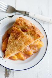 BEST Fresh Peach Pie Rezept mit All Butter Pie Crust   – Recepie