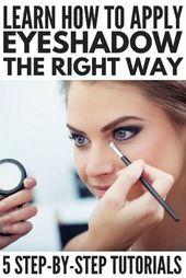 5 tutorials to show you  apply eyeshadow correctly