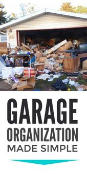 Garage organization – there are loads of cheap DIY garage organizing and storage…