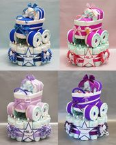 Diaper cake – ♥ Diaper cake with stroller in 5 colors – gift – birth ♥
