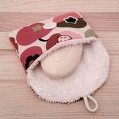 Seifentasche aus Kunststoff Free Travel Frottee und Baumwolle DIY Nähanleitung
