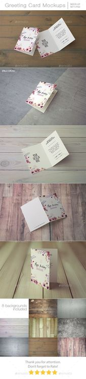 Invitation & Greeting Card Mockups. Which available in high resolution 4500×300…