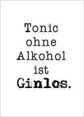 Premium-Poster Tonic ohne Alkohol