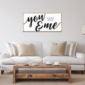 You and Me Since Printable, Husband & Wife Bedroom Print, Over Bed Decor, Anniversary Year Wall Art, Farmhouse Sign, Custom Digital Download
