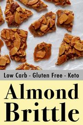 This is a quick low carb and Keto almond brittle recipe that you can make in abo…
