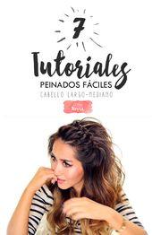 7 Easy Hairstyles Tutorials für langes oder mittleres Haar