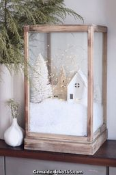 Spectacular DIY Christmas village for the cozy minimalist