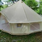 6M 4 seasons Outdoor Canvas Bell Tent Waterproof Camping Stove Hiking Canopies #…