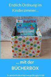 DIY: Bücherbox aus Windelkarton basteln (Eine einfache Idee) – Kinderzimmer