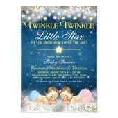 Baby Showers Twinkle Twinkle Twinkle Little Star Invitations