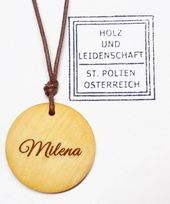 wooden pendant personalized on request . . . . . #wood #holz #handarbeit #handic…