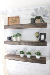 shelves Schwimmende Regale DIY – So stellen Sie Ihre eigenen schwimmenden Regale her #DIY #e…