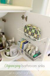 15 Ways to Organize Under the Bathroom Sink – #Bat…