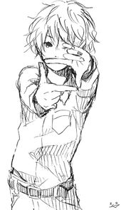 Hajime Takahiro As A Child Anime Anime Monochrome Anime Sketch