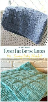 Baby Blanket Easy Blanket Free Knitting Patterns, um Ihre Strickfertigkeiten zu verbessern