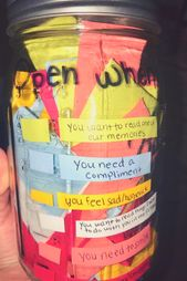 100 reasons why I love you memory jar