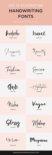 Die 14 schönsten Handschriften Fonts zum Download
