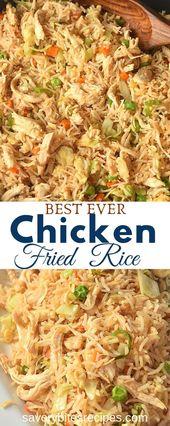 Versuchen Sie dies einfach besser als mitnehmen Hühnchen gebratener Reis   – Real Food Recipes Group Board