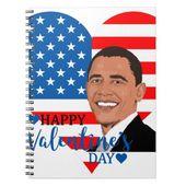 barack obama valentine notebook | Zazzle.com
