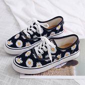 Free Ship Daisy Canvas Shoes SE20284  Styl