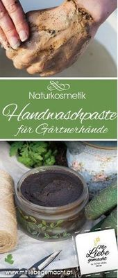 Finally garden time – hand washing paste for stressed garden hands ♥ Made with love