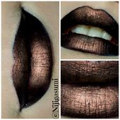 Steampunk lips • Free tutorial with pictures on how to create a lip makeup loo …