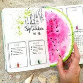 55 Stunning Watermelon bullet journal ideas – Scrapbook/Journals